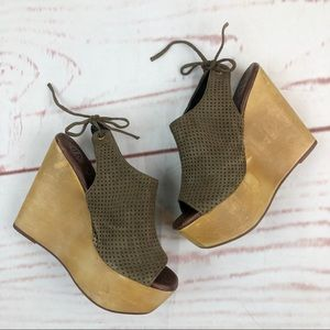Jeffrey Campbell | Wooden Wedges, Size 7.5